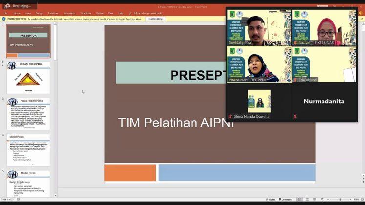 Pelatihan Preceptorship Unas 2
