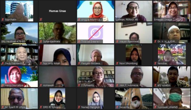 Foto bersama dalam webinar yang diadakan PPM-Unas dan PERAGI Komda DKI